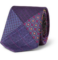 Etro Patchwork Woven-Silk Tie | MR PORTER