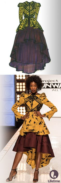 This medieval inspired design from Project Runway All Stars is beautiful!                                                                                                                                                      More