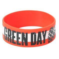 Green Day American Idiot Rubber Bracelet | Hot Topic ($7) ❤ liked on Polyvore featuring jewelry, bracelets, rubber bracelet, green bangles, green bracelet, bracelet jewelry, rubber bangles and green jewelry