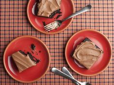 Devil's Food Cake by Alton Brown from FoodNetwork.com  We use this chocolate frosting every chance we get.