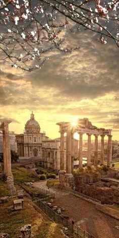 Famous Roman ruins,