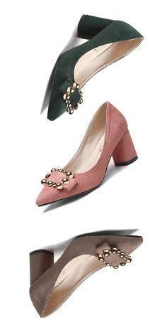 Material:Suede Heel Height:6.5cm Embellishment:Sequin