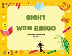 Sight Word Bingo - Beginning of the Year Sight Word Review Game $