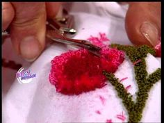 Puntos y Puntadas 190. Letras en Bordado Chino. Graciela Costanza. - YouTube Cold Porcelain Tutorial, Creative Embroidery, Polymer Clay Dolls, Doll Head, Punch Needle, Embroidery Stitches, Flower Art, Make It Yourself, Knitting