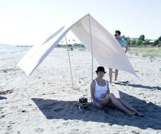Portable Beach Shade: 16 Steps (with Pictures) Beach Shade, Beach Tent, I Love The Beach, Surfboard, Outdoor Gear, Seaside, Shades, Camping, Pictures