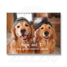 Augie and Ti 2014 Golden Retriever Calendar by #AugieDoggyStore. 60% off until 1 pm PT 12/13 with code BLACKFRI13TH