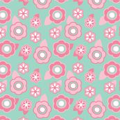 Smaller-Scale Sugar Cherry Blossom fabric by alainasdesigns for sale on Spoonflower - custom fabric, wallpaper and wall decals