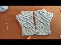 Fingerless Peanut Gloves Model Making Narrated Turkish Video - Crochet Arm Warmers, Crochet Gloves, Crochet Beanie, Knit Crochet, Knitting Videos, Crochet Videos, Knitting For Beginners, Poncho, Crochet Stitches Patterns