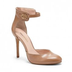 Women's Adobe Leather 4 Inch Rounded Toe Leather Heel | Rachael by Sole Society