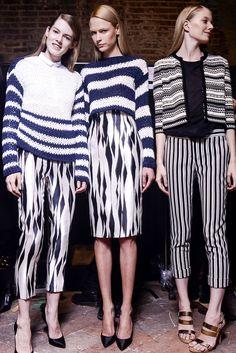 Tendencias primavera 2013 rayas stripes blanco y negro   Vogue Mexico, Photo Douglas Bassett, Les Copains