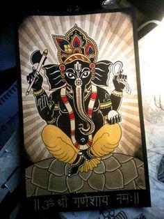 Ganesha fine art print by IndigoandAmber on Etsy, $25.00