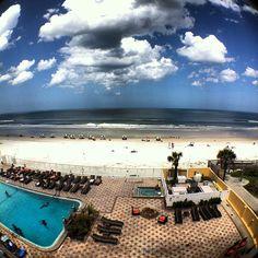 View from Holiday Inn Daytona Beach. Photo by Instagram user drewmeek