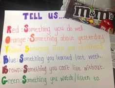 M&M Speaking Game for Young ESL Learners