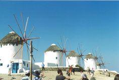 Windmills of Mykonos, Greece August 2015
