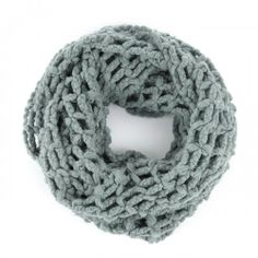 Cutout Knit Infinity Scarf.