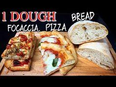 Quick Bread Recipes, Oven Recipes, Spicy Recipes, Pizza Recipes, Italian Recipes, Baking Recipes, Focaccia Pizza, Bread Pizza, Healthy Recipes