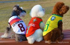571342e3d96 2018 Hot Fashion Dog Apparel Ecropean Cup Dog Clothes Pet Supplies Football  Jersey Outdoor In The