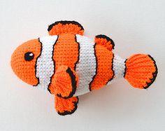 Alleen maar een vis gehaakt patroon DIY van VendulkaM op Etsy