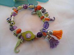 SALE--- GYPSY BRIDE - Bohemian style Bracelet-Gypsy Jewelry- Seahorse- Beach Inspired - Bohemian jewelry