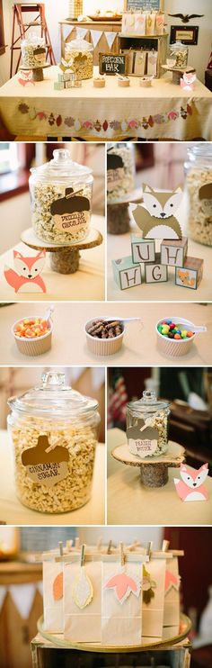 Fox Themed Baby Shower for the Fall Season - so adorable. #whatdoesthefoxsay