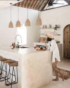 Kitchen Interior, Kitchen Decor, Kitchen Ideas, Breakfast Nook, Breakfast Photo, Caribbean Homes, Bali House, Modern French Country, Clay Houses