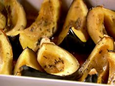 Sweet Roasted Rosemary Acorn Squash Wedges : It takes only a few everyday ingredients, like butter, brown sugar and chili powder, to bring bold flavor to this tender roasted vegetable.