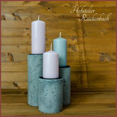 Kerzenhalter aus Beton / Concrete candle holder