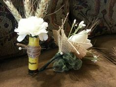 shotgun shell boutonniere and women's corsages Shotgun Shell Boutonniere, Corsage And Boutonniere, Boutonnieres, Camo Wedding, Dream Wedding, Shotgun Shell Crafts, Bullet Casing Jewelry, Wedding Ideas, Prom Ideas