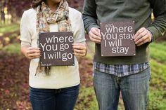 Christian Wedding Engagement - Book of Ruth 1:16. Photo by Rhema Faith Photogaphy