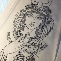 תוצאת תמונה עבור egyptian goddess tattoo