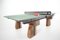 Click Clack Tennis Table made from Rail Road parts.