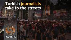 Journalists protest shutdown of TV, radio channels in Turkey