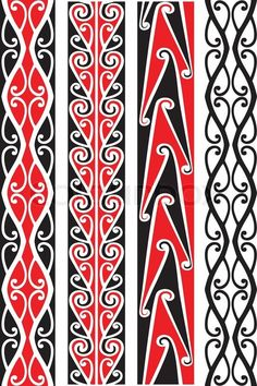 Stock vector of 'Seamless Maori patterns.'