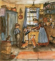 #TashaTudor  This is on the back page of the Tasha Tudor Cookbook, which I own.