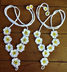 Daisy Crochet Barefoot Sandals  Hand by Killingtimecreations