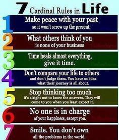 Good rules to live by!