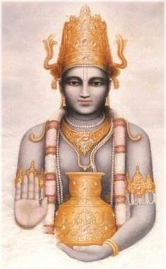 Dev Dhanvantri...god of medicine..gods doctor one of Vishnu avatar #India #Hindu #Hinduism #Gods #Goddess #Religion #Mythology #puran #Veda #Sanskrit #Yogis #Shiva #Narayana #Laxmi #Faith #Believes #Avtars #monk #Karma #Spirituality #Spiritual