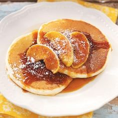 Ricotta Pancakes with Cinnamon Apples Recipe from Taste of Home - Shared by Eva Amuso of Cheshire, MA