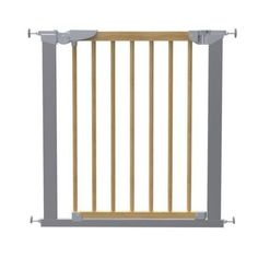 Baby Dan Avantgarde Gate - Silver - www.totswarehouse.com  The Avantgarde Gate from Baby Dan is a stylish safety gate constructed from high quality beech wood and a silver metal frame.   It is a True Pressure Fit Safety Gate, meaning the gate can be fitted easily without the use of wall cups.   The Avantgarde gate has a built in indicator that shows you whether the gate has been mounted correctly.        One handed operation     Two Way Opening  #baby #safety #gate