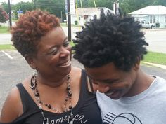 Moms and I joked out! Living this #naturalhair life. | #Austin #twa | www.clipperbeast.com