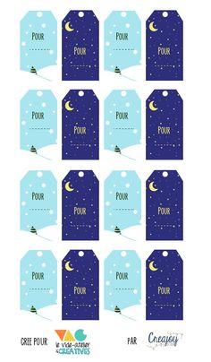 Des jolies étiquettes pour vos cadeaux…