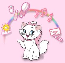 This is a Temporary tattoo of Marie, the female kitten from the Disney movie Aristocats. Description from pinterest.com. I searched for this on bing.com/images