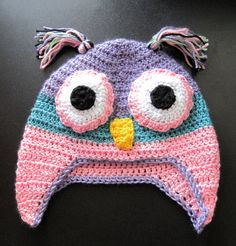 Here are a few animal hats i have crocheted this year Crochet Animal Hats, Crochet Owl Hat, Crochet Kids Hats, Knitted Hats, Crochet Patterns, Hat Patterns, Crochet Ideas, Creative Photos, Loom Knitting
