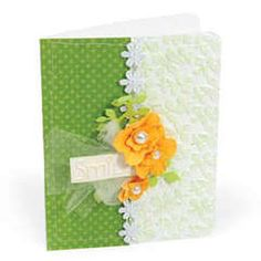 Here's something worth smiling about an idea that uses embossing ever so elegantly Textured Impressions Embossing Folders bring texture and design to the forefront for the most creative backgrounds and embellishments Create a card base by folding a piece Cute Cards, Easy Cards, Making Greeting Cards, Embossed Cards, Card Tags, Gift Tags, Scrapbook Cards, Scrapbooking, Birthday Cards