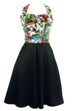 Hemet Classic Monsters Full Swing Pinup Dress