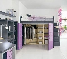 Trendy Bedroom Storage Ideas For Adults Loft Beds Cute Bedroom Ideas, Girl Bedroom Designs, Trendy Bedroom, Modern Bedroom, Bed Ideas, Decor Ideas, Bed Storage, Bedroom Storage, Storage Ideas