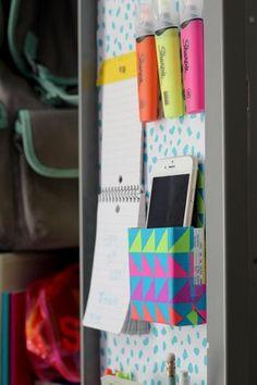 22 DIY Locker Decorating Ideas   Easy Crafts and Homemade Decorating & Gift Ideas   HGTV >> http://www.hgtv.com/design/make-and-celebrate/handmade/diy-locker-decorating-ideas-pictures?soc=pinterest