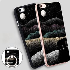 Wandering Bear Print Phone Ring Holder Soft TPU Silicone Case Cover for iPhone 4 4S 5C 5 SE 5S 6 6S 7 Plus