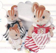 Sylvanian Families Calico Critters Baby, Sister and Mother dolls dress set pdf E PATTERN in Japanese and Templates Titles in English