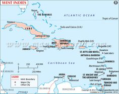 showing the West Indies island countries in the sea. St Johns Antigua, Windward Islands, Cayman Islands, Hampton University, Country Maps, Island Nations, Paradise On Earth, Caribbean Sea, Travel Maps